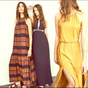 H&M Navy / Multi Maxi Dress